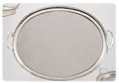 "Tray ""oval grill"" model with handles"